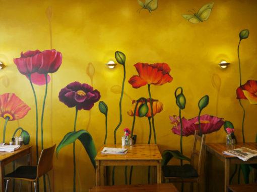 Poppy Flower Wall Mural – Whisk Emporium