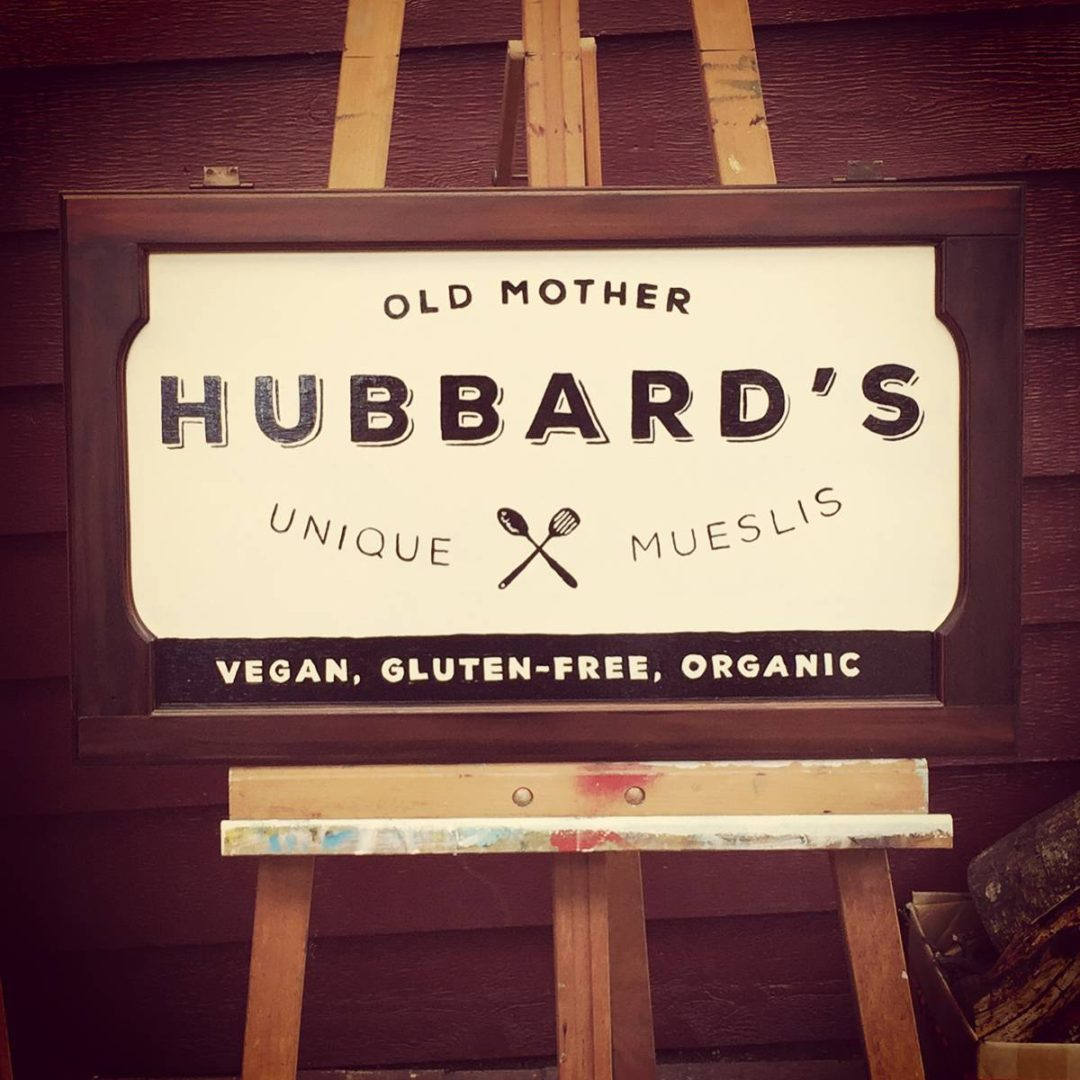 Hubbard's Hand Painted Sign
