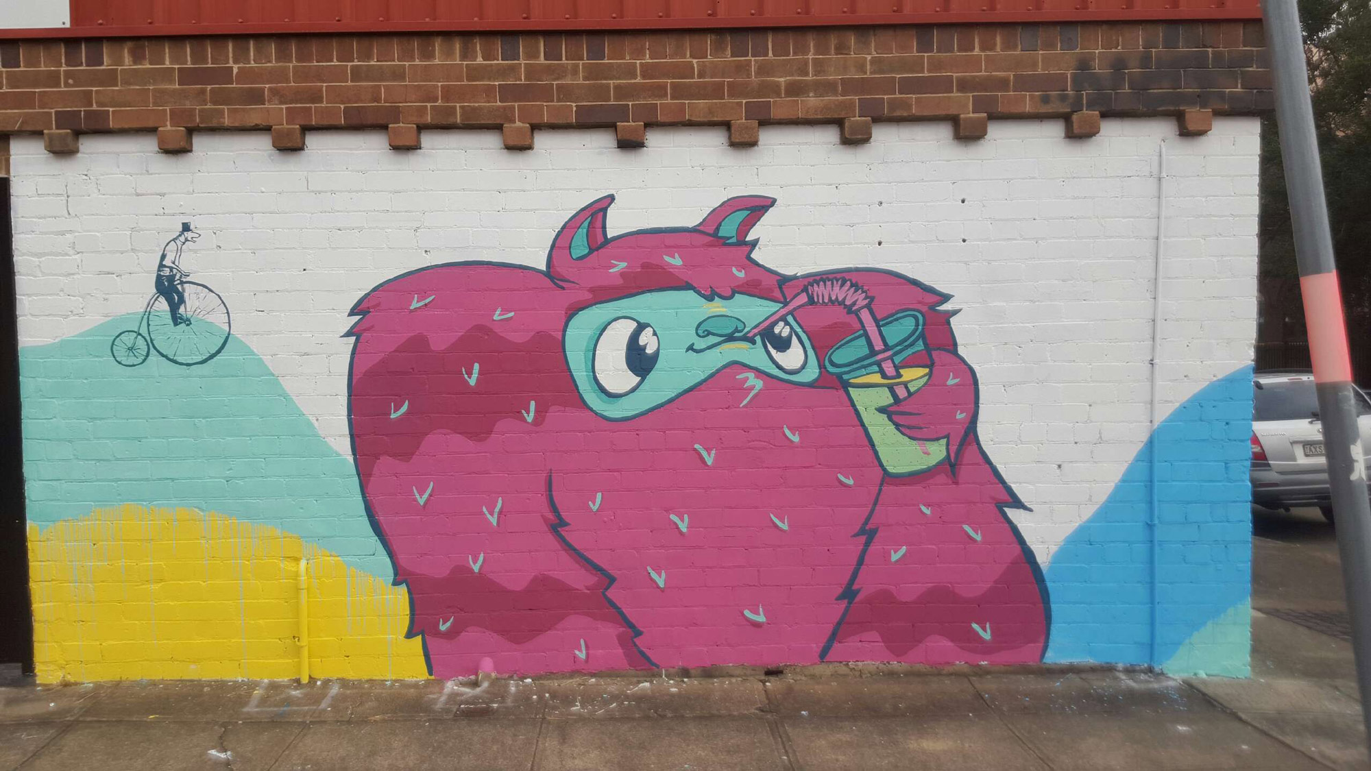 the-art-of-wall-marrickvillie-monster-mural-pink-guy