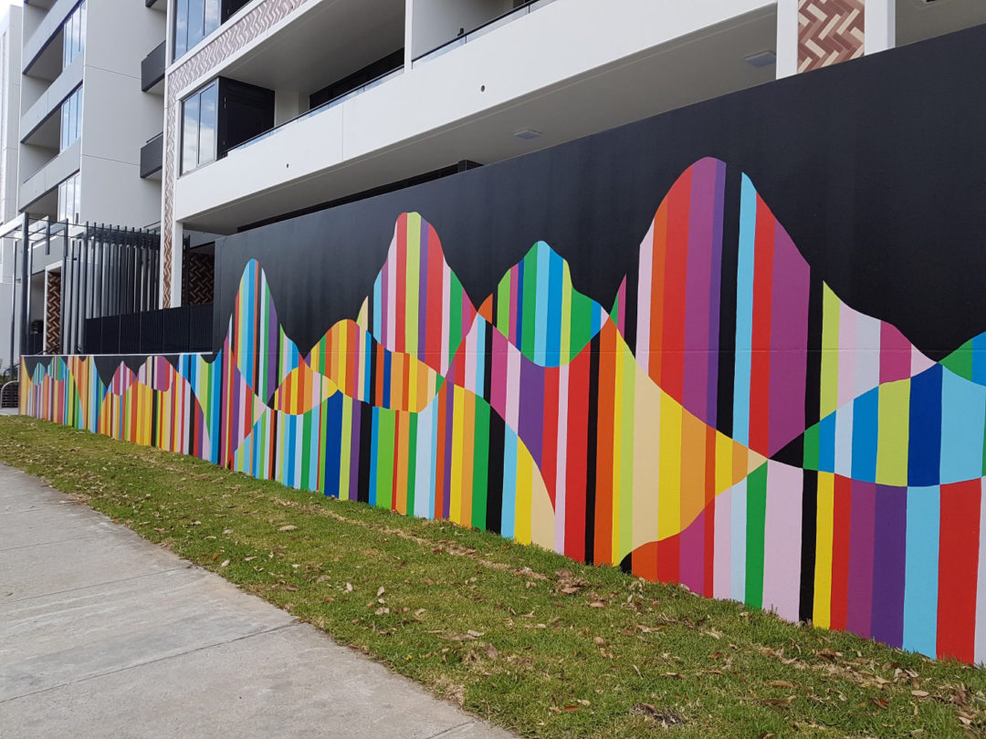 Apartment Building Public Art Mural – Meriton