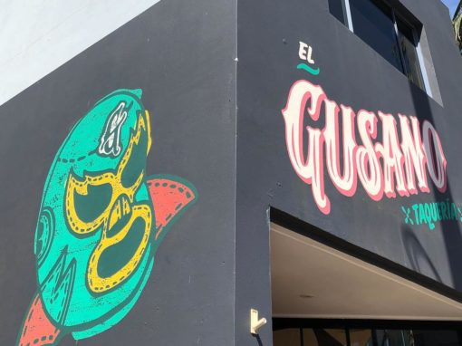Hand Painted Mexican Logo and Mural