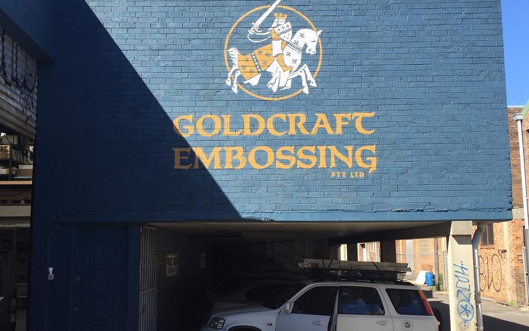 Goldcraft Hand Painted Logo Sign