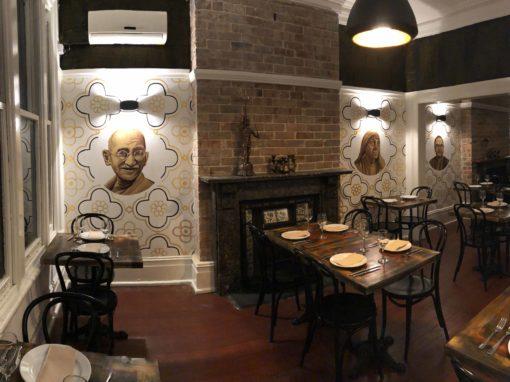 Indian Restaurant Portrait Murals