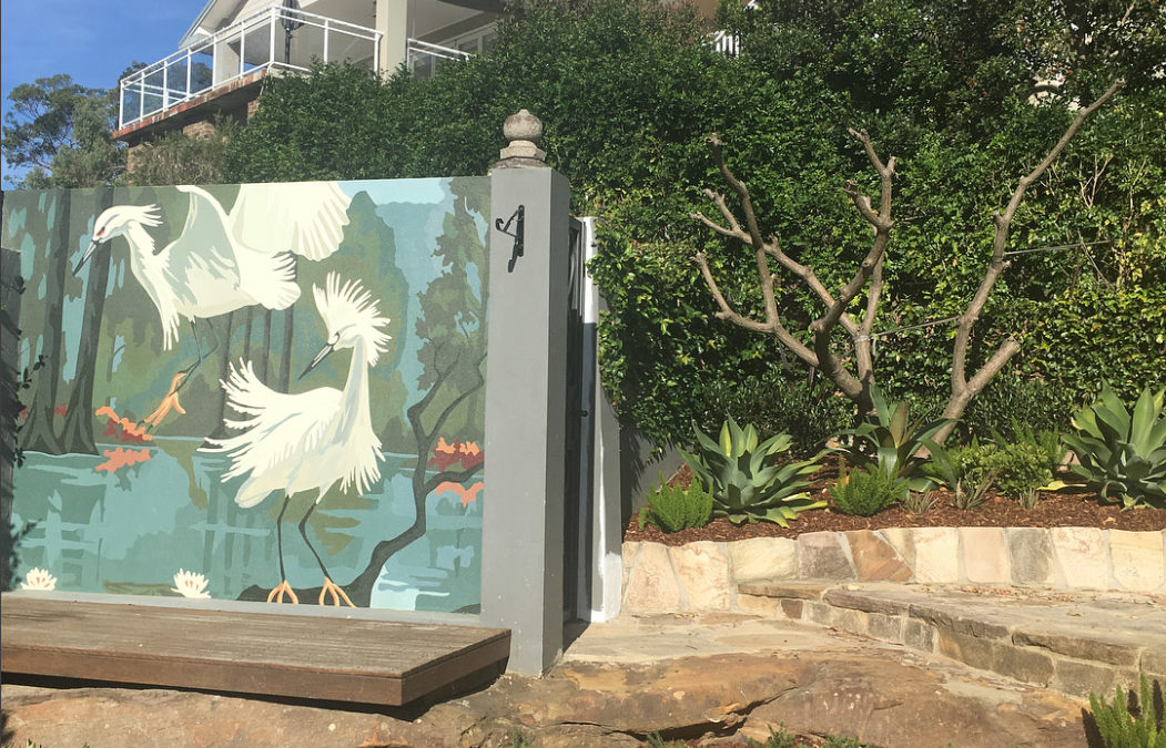 Paint-by-numbers Garden Mural