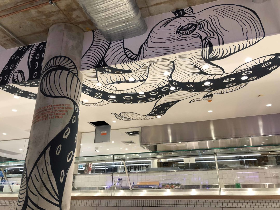 Sydney Fresh Seafood Harris Farm Octopus Mural