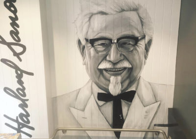 the-art-of-wall-KFC-sydney-colonel-sanders-portrait-mural-painted-by-artist-Stacey-Keating