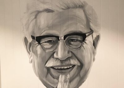 the-art-of-wall-KFC-sydney-colonel-sanders-portrait-mural-painted-by-artist-Stacey-Keating4