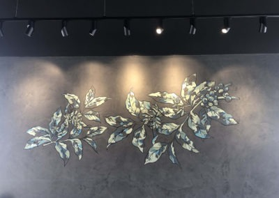 the-art-of-wall-Starbucks-caboulture-botanical-coffee-branch-wall-art-mural-1
