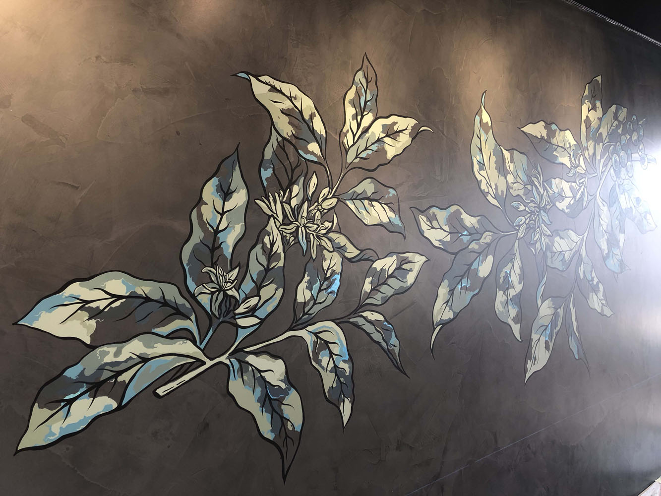the-art-of-wall-Starbucks-caboulture-botanical-coffee-branch-wall-art-mural-3
