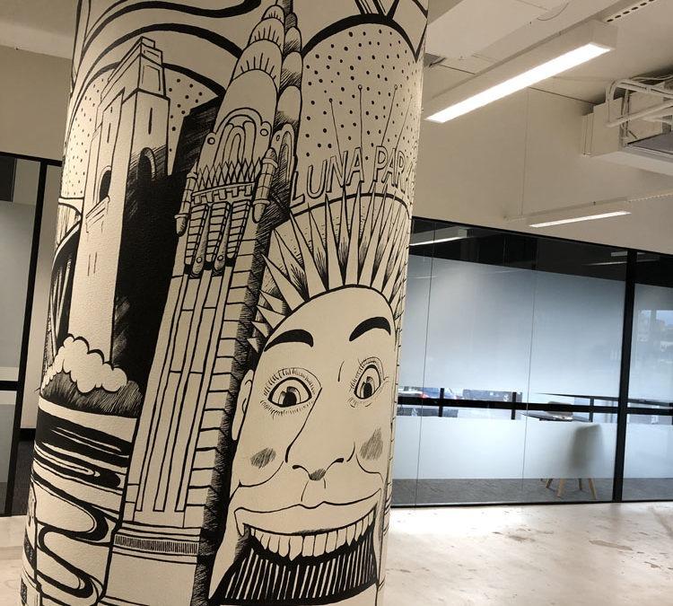 Sydney City-Scape Column Mural