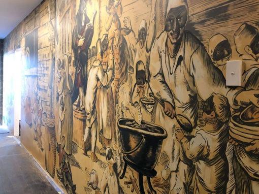 Huge Italian Mural