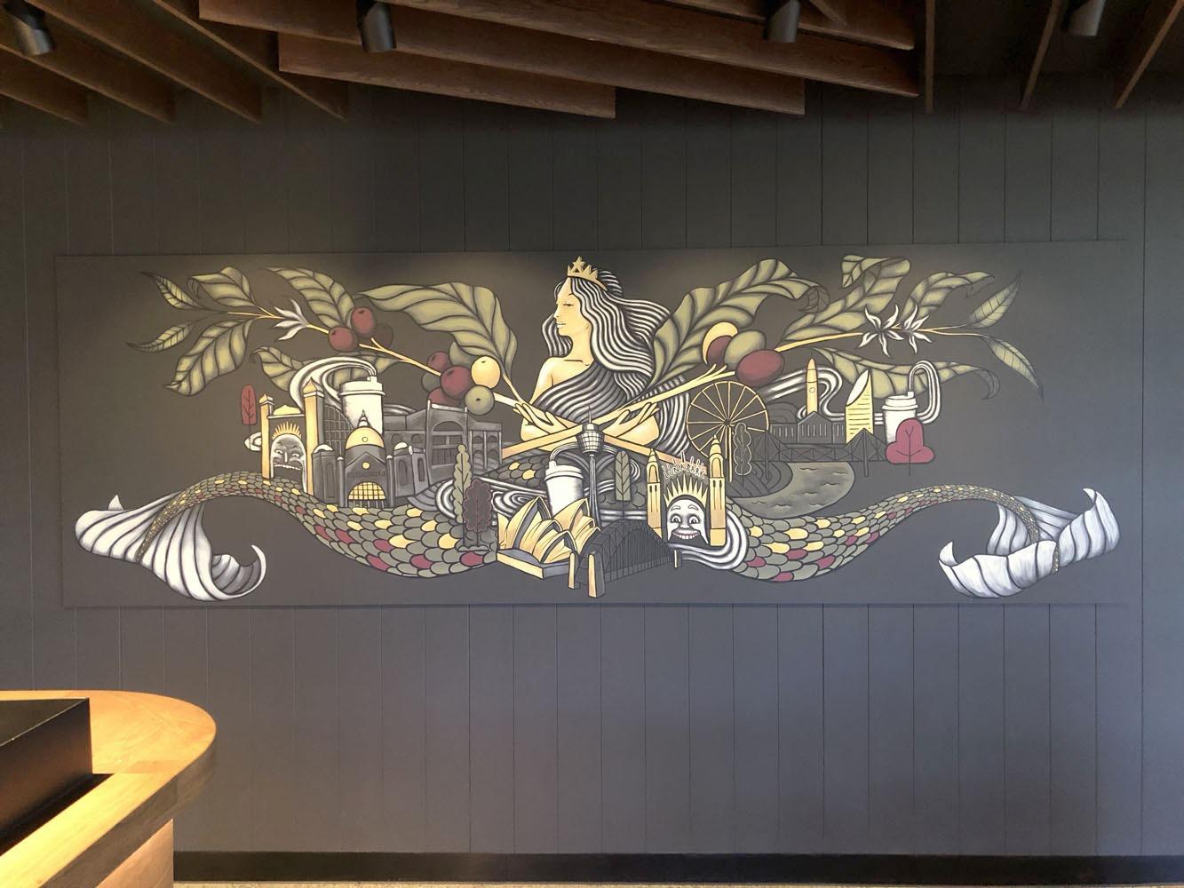 the-art-of-wall-starbucks-office-mural-melbourne-sydney-brisbane-wall-art-1
